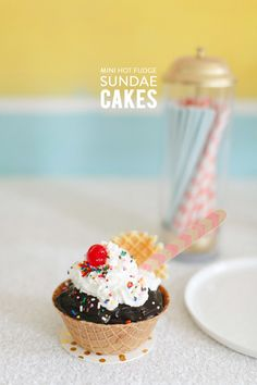 Mini Hot Fudge Sundae Cakes