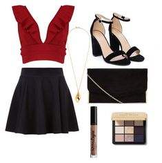 """""""Night out"""" by kamryn-123 on Polyvore featuring Boohoo, Nasty Gal, Kenneth Jay Lane, Bobbi Brown Cosmetics and Charlotte Russe"""