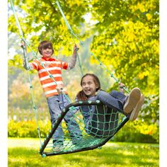 Our Deluxe Platform Swing is an outdoor toy kids will love. Hanging swings for kids are the new trend in outdoor play. This rope swing is tons of fun! Backyard Obstacle Course, Backyard Swings, Backyard Toys, Backyard Zipline, Big Backyard, Backyard Ideas, Outdoor Toys, Outdoor Fun, Outdoor Playground