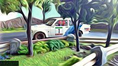 Ford Escort MKII RS 1800 (1/32 scale) #scalextric #slot #slotcar #slottrack #slotcartrack #circuito #rennbahn  #maqueta #portable #scalemodel #modelismo #modelism #handmade #paint #airbrush #aerografo #landscaping #rally #cars #wrc #wec #paintwork #mountain #montaña #tree #arbol #arbre #diy #doityourself #entrepreneur #custom #artisan #woodart #art #carart #maqueta #madera #handmade #hechoamano #woodwork #fetama #ford #escort #oil #canvas #oilpainting #onirico #vangogh #sueño #dreamlike Slot Car Tracks, Slot Cars, Handmade Paint, Ford Escort, S Mo, Radio Control, Airbrush, Van Gogh, Wood Art