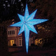 Make A Statement With This Large Blue Led Star By Gki Bethlehem From Christmas Night Inc