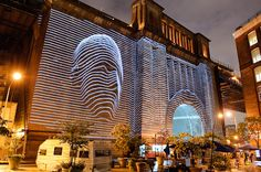 Cool Projection Mapping from the DUMBO Festival.
