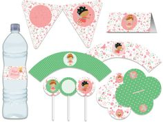 Festa Fadas - aniverários - chá de bebê - bodas - noivado - casamento - festa adulto - festa infantil -  rosa, verde, branco, poa, jardim Tuty - Arte & Mimos www.tuty.com.br