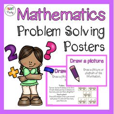 Mathematics Problem Solving Strategy Posters by Print Party | Teachers Pay Teachers