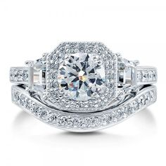 Halo Fashion Rings in Cubic Zirconia CZ | Berricle