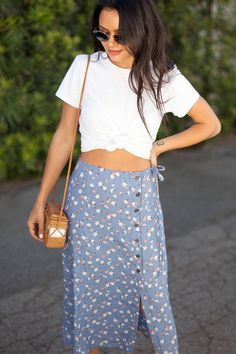 UO Frankie Button-Down Midi Skirt   Urban Outfitters
