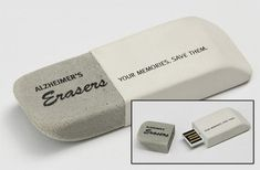 Alzheimer's New Zealand (eraser usb) - and other Creative Promotional Product Marketing Campaigns Guerrilla Marketing Photo
