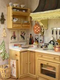 257 best miniature kitchens images miniature kitchen dollhouse rh pinterest com