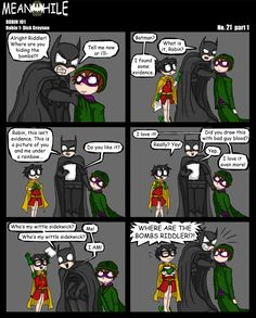 Robin 101: Dick Grayson. Always draw with bad guy blood