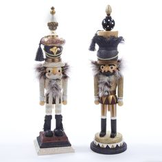 "18""HOLLYWOOD BROWN/BLACK #FINIAL #NUTCRACKER"