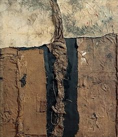 The life work of Alberto Burri was born in an American POW camp in Gainesville, Texas, where he was interned after the capture of his unit by the Allied forces in Tunisia in Defeated and conf… Alberto Burri, Art Informel, Ludwig Mies Van Der Rohe, Contemporary Abstract Art, Contemporary Artists, Art Graphique, Mixed Media Collage, Large Wall Art, Abstract Expressionism