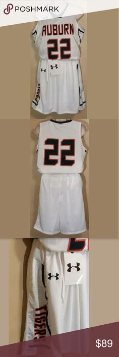 Womens Auburn Tigers Med Basketball Jersey/Shorts Womens Auburn Tigers Med Basketball Jersey/Shorts #22 Under Armour NCAA $225   Brand New  Comes with full uniform. Under Armour Other