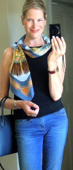 MaiTai's Picture Book: Capsule wardrobe #65 - How to wear a scarf on a hot summer's day