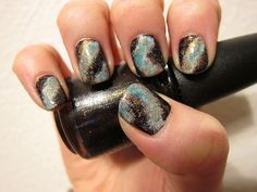 Galaxy Nails - must try to do this soon.
