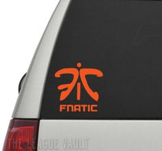 Are you a Fnatic fan? Want to rep your Fnatic pride? Get this awesome Fnatic logo decal! These are one-of-a-kind, unique, and 100% handmade by one of our amazingly talented providing artists.  They're great for putting on car windows, bumpers, laptops, computers, consoles, tablets, mirrors, wal...
