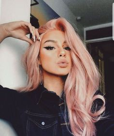 50 Winged Eyeliner Looks Ideas Pastel hair colors Pastel Pink Hair, Long Pink Hair, Pink Blonde Hair, Dusty Pink Hair, Baby Pink Hair, Dyed Hair Pink, Pastel Hair Colors, Pretty Pastel, Rose Gold Hair Blonde