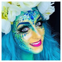 Painted by Ingrid Breugelmans Sôkkertantes Paintertainment Dragon Face Painting, Face Painting Flowers, Fantasy Makeup, Face Art, Airbrush, Fashion Art, Party Themes, Body Art, Halloween Face Makeup