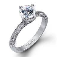Simon G Twist 18k - White Gold Diamond Engagement Ring