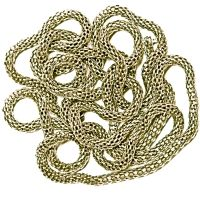 Metal Round Shape Silver Color Chain