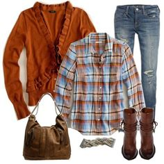 Orange Fall outfit