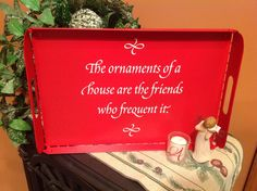 """Uppercase Living's """"The ornaments of a house are the friends who frequent it"""" #uppercaseliving"""
