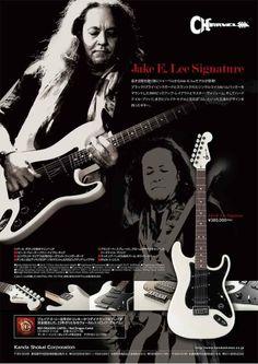 Jake E Lee Signature Charvel Japan Guitar Books, Music Guitar, Cool Guitar, Jake E Lee, Strat Guitar, Guitar Magazine, Eddie Van Halen, Vintage Guitars, Great Bands