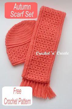 Crochet Adult Hat, Crochet Beanie Pattern, Crochet Patterns, Crochet Scarves, Crochet Clothes, Crocheted Hats, Crochet Neck Warmer, Little Presents, Crochet Fall