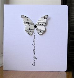 Butterfly congratulations card, could use flower or balloon or kite.options are endless Cute Cards, Diy Cards, Your Cards, Envelopes Decorados, Simple Canvas Paintings, Congratulations Card, Card Making Inspiration, Creative Cards, Scrapbook Cards