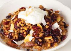 Wheat Berry Breakfast Bowl: Whole grains are a great way to start your ...