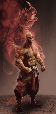 ArtStation - Orc Martial artist, Dion Harris