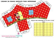 Casa de Minnie para Imprimir Grais. Mickey Party, Minnie Mouse Party, Mouse Parties, Minnie Mouse Birthday Decorations, Minnie Birthday, Scrapbook Da Disney, Paper Toys, Paper Crafts, Modern Dollhouse Furniture