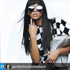 #Repost @gentlemonsterthailand with @repostapp.・・・Gentle monster 2015 collection  Grazia Magazine : February issue Model : Maeya  #gentlemonster #gentlemonsterthailand #grazia