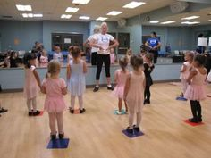 """What makes a good dance teacher? - i like the idea of doing the placemats for """"spots"""" that way the mats don't move and the kids have somewhere to stand..."""