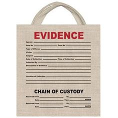 Evidence Canvas Treat Bag - 412734 | trendyhalloween.com