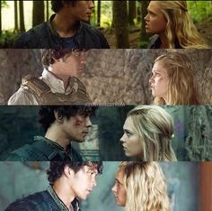 They draw closer and closer together each season... #The100 #Bellarke 1x01-4x02