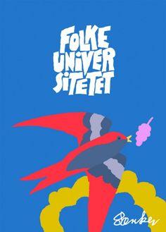 Poster/plakat for Folke Universitetet in Aalborg by Særker Sørensen