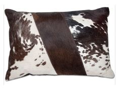 Chocolate Brown and White Ripple Imported Hairon Leather Cushion Cover Buy… Leather Cushions, Leather Pillow, Accent Pillows, Throw Pillows, Simply Home, Cow Skin, Nature Decor, Chocolate Brown, Cushion Covers