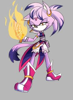 Okay I have to admit, if this was Blaze in Sonic boom....I BE OVERLY EXCITED