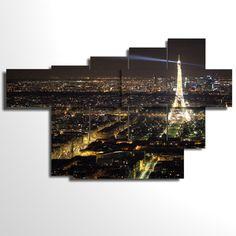 Multilevel and multipanel picture - 173x108 cm - Paris