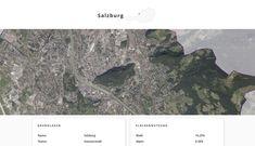 Screenshot der Landeshauptstadt Salzburg, Salzburg, auf Similio, dem mehrsprachigen Geographie- & Informationsportal über Österreich. Geographie, Wirtschaftskunde, Statistik City Photo, Statistics, Communities Unit, Economics, Alps, Things To Do, Landscape