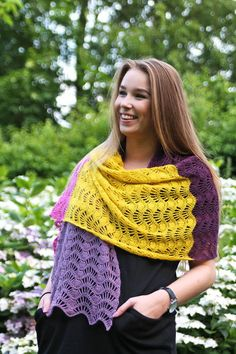 Feather  Fan Shawl