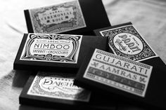 Packaging created for a range of chocolate bars inspired by unique flavours found in some of the regions across the Indian sub-continent.Conceptualized by Alok Nanda and Company for Filter, each wrapper uses traditional motifs and graphics to bring alive the design.