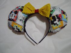 Comic Strip Mickey Mouse ears by Glitteratheart on Etsy