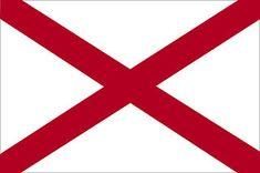 Official Alabama state flag.