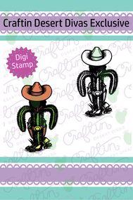 Cowboy Cactus Digital Stamp