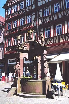 Downtown Wertheim Germany.  I have a picture my grandparents took of me in front of the fountain