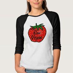 Raw Vegan Strawberry T Shirt, Hoodie Sweatshirt