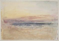 Joseph Mallord William Turner, Sunset, about 1845.