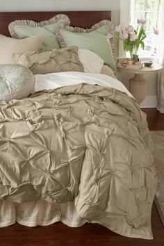 Aetheria Coverlet - traditional - duvet covers - other metro - Soft Surroundings Dream Bedroom, Home Bedroom, Bedroom Decor, Bedroom Ideas, Bedroom Styles, Master Bedroom, Boudoir, My New Room, Bedrooms