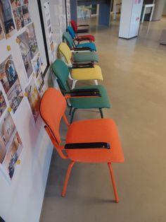 Jami chair 4 legs, jami stoel 4 poot, chair with  bright colours, stoel met felle kleuren Jami 2017 • Designer: Toine van den Heuvel  • © Lande • Photo: Martijn Verhoeven